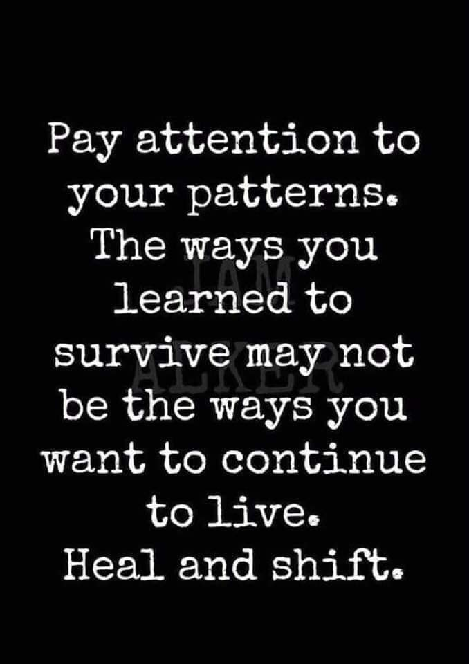Pay attention to your patterns